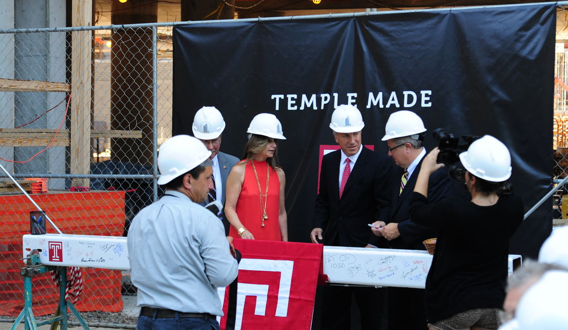 temple tops off